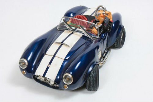 Shelby Cobra blauw door G. Forchino